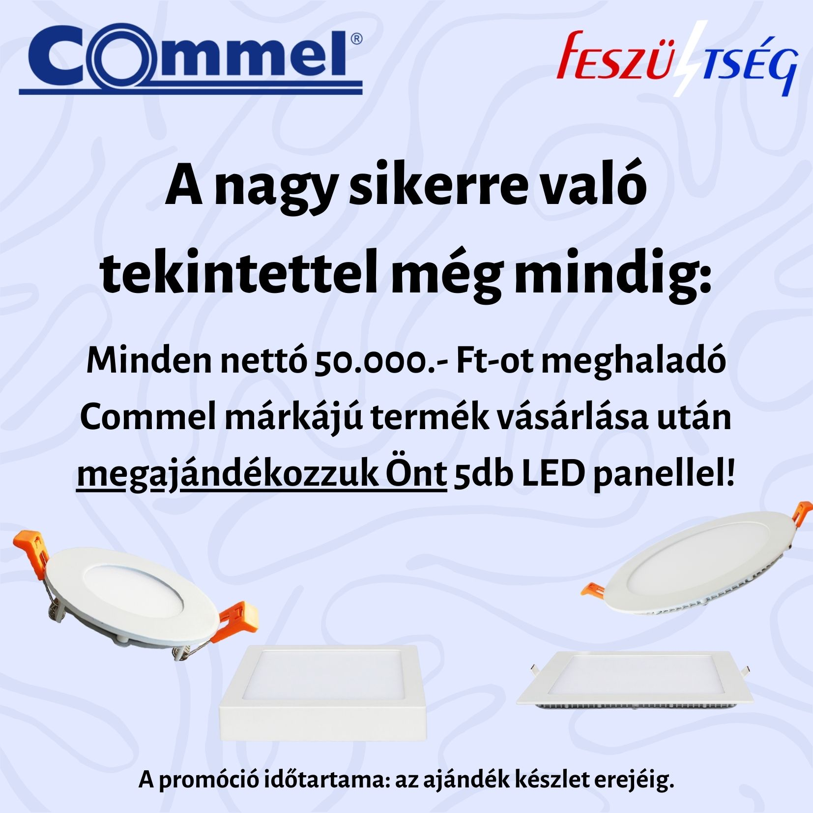 Commel LED panel akció